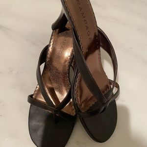 Rampage sandals with heel